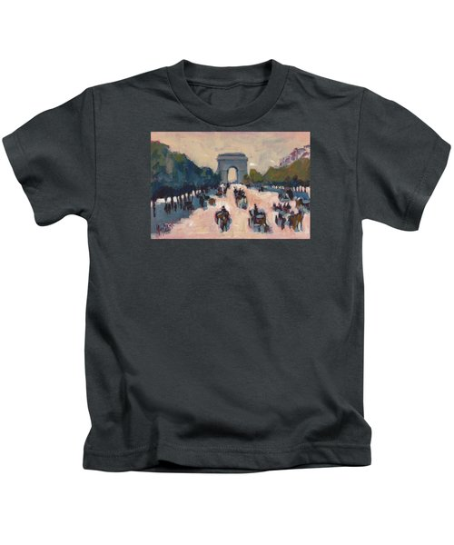Champs Elysees Paris Kids T-Shirt