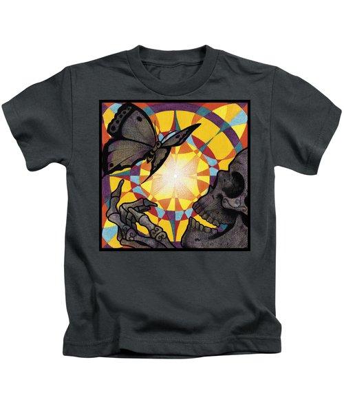 Change Mandala Kids T-Shirt by Deadcharming Art