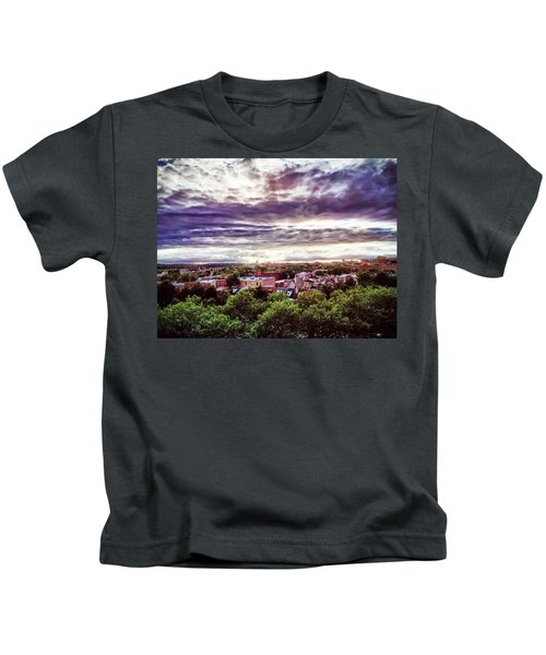 Kids T-Shirt featuring the photograph Charm City Sunset by Chris Montcalmo