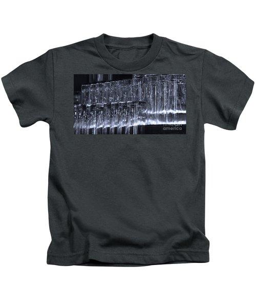 Chasing Waterfalls - Blue Kids T-Shirt