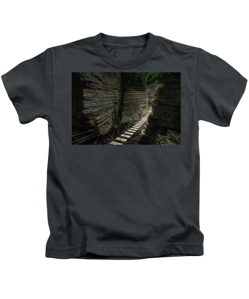 Chasm Bridge Kids T-Shirt