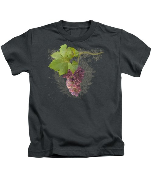 Chateau Pinot Noir Vineyards - Vintage Style Kids T-Shirt by Audrey Jeanne Roberts