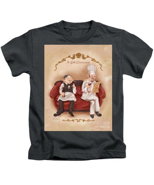 Chefs On A Break-a Little Conversation Kids T-Shirt
