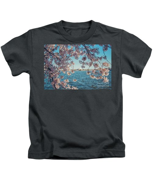 Cherry Blossoms In Dc Kids T-Shirt