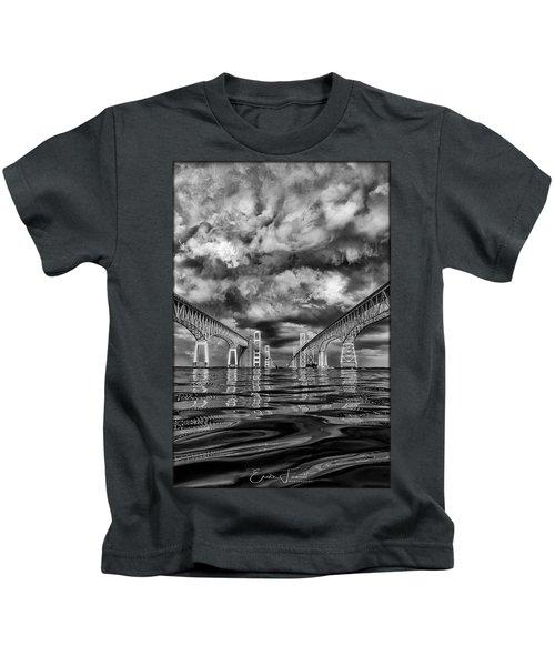 Chesapeake Bay Bw Kids T-Shirt