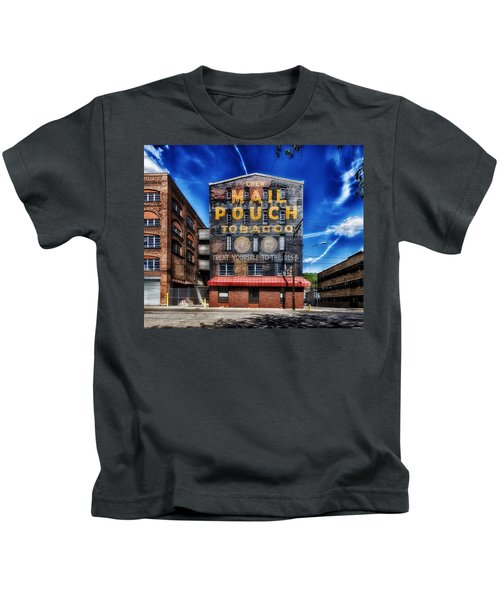 Chew Mail Pouch Tobacco - Warehouse Wheeling West Virginia Kids T-Shirt