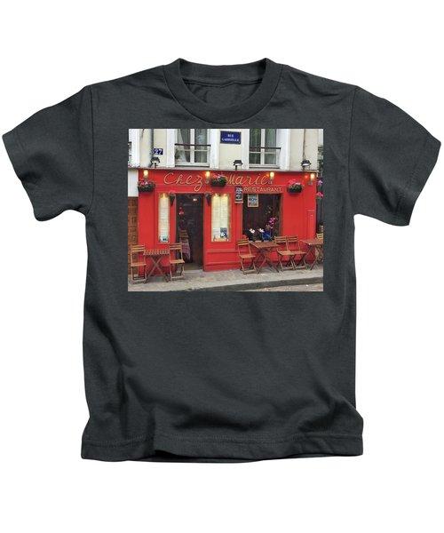 Chez Marie Restaurant, Montmartre, Paris Kids T-Shirt