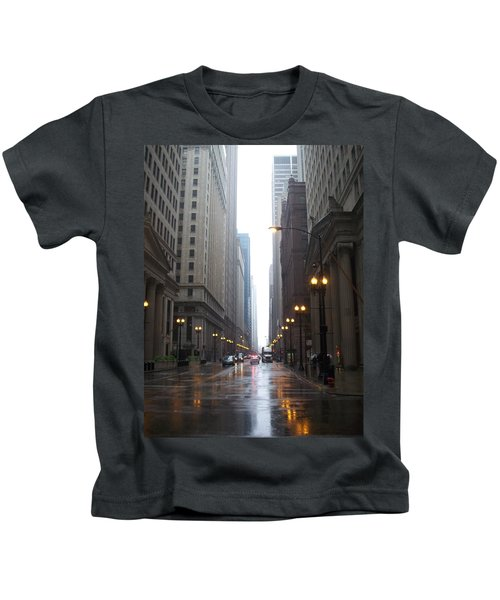 Chicago In The Rain 2 Kids T-Shirt