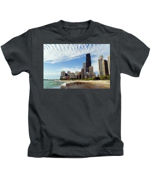 Chicago Lakefront Skyline Kids T-Shirt