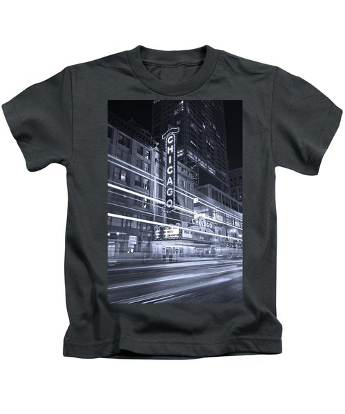 Chicago Theater Marquee B And W Kids T-Shirt