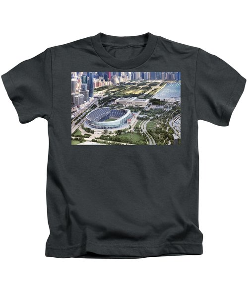 Chicago's Soldier Field Kids T-Shirt by Adam Romanowicz