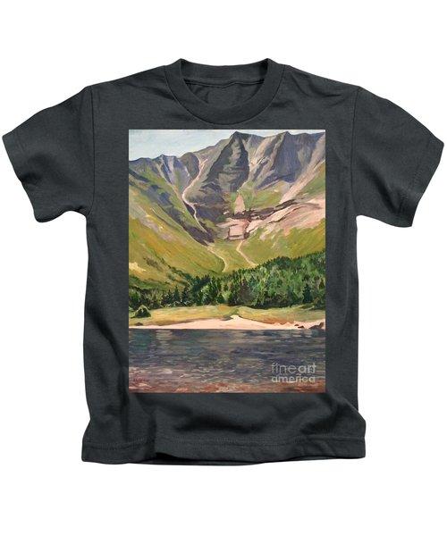 Chimney Pond At Katahdin Basin Kids T-Shirt