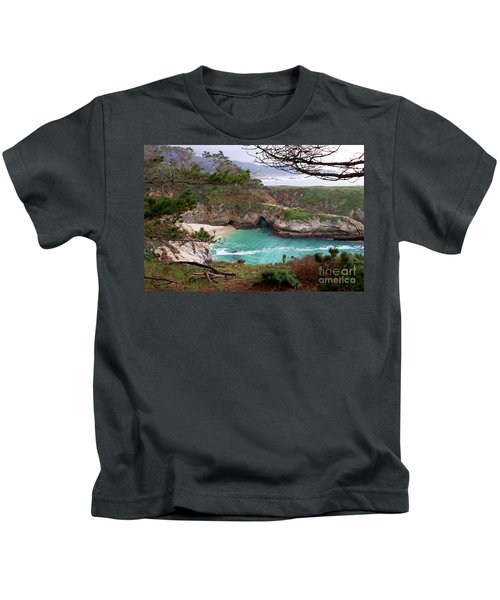 China Cove At Point Lobos Kids T-Shirt