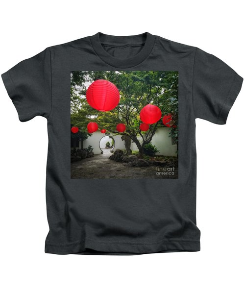 Chinese Tea Garden In Portland, Oregon Kids T-Shirt