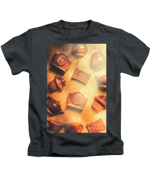 Chocolate Cafe Background Kids T-Shirt