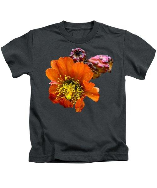 Cholla Flower H59 Kids T-Shirt