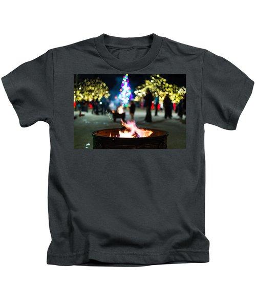 Christmas Fire Pit Kids T-Shirt