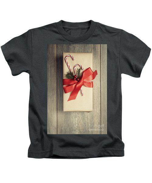 Christmas Gift With Candy Canes Kids T-Shirt