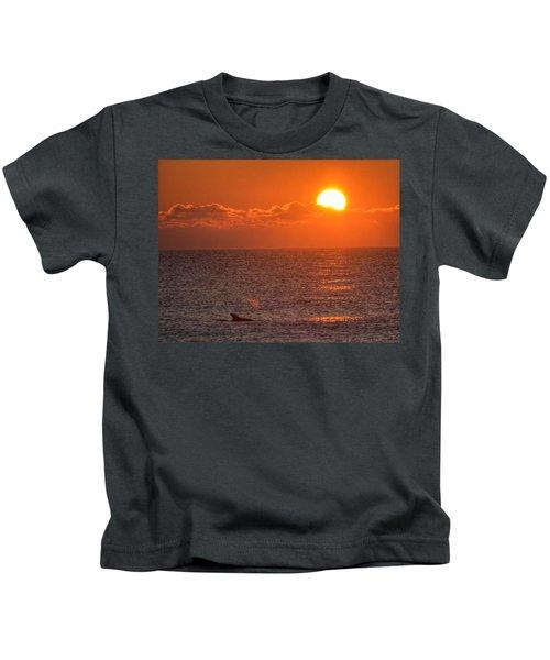 Christmas Sunrise On The Atlantic Ocean Kids T-Shirt
