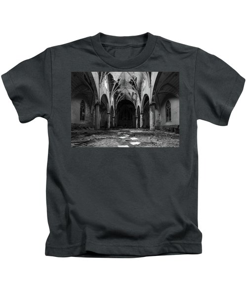 Church In Black And White Kids T-Shirt