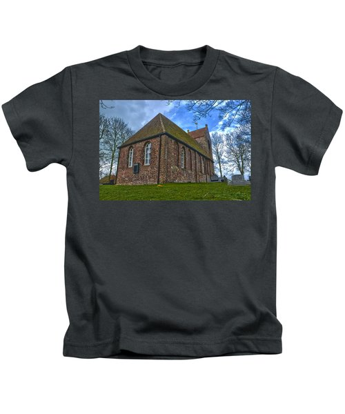 Church On The Mound Of Oostum Kids T-Shirt