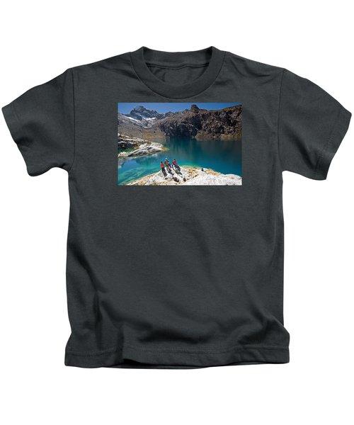 Churup Lake Kids T-Shirt