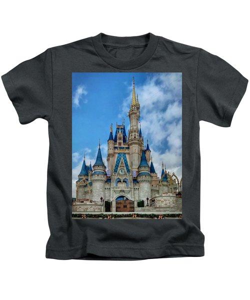 Kids T-Shirt featuring the photograph Cinderella Castle by Chris Montcalmo