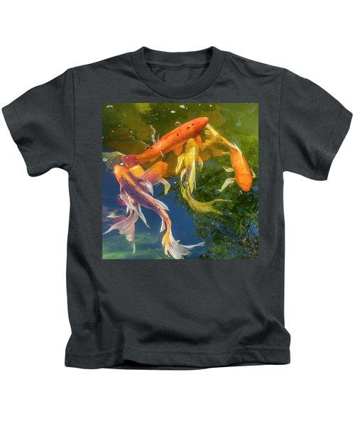 Circle Of Koi Kids T-Shirt