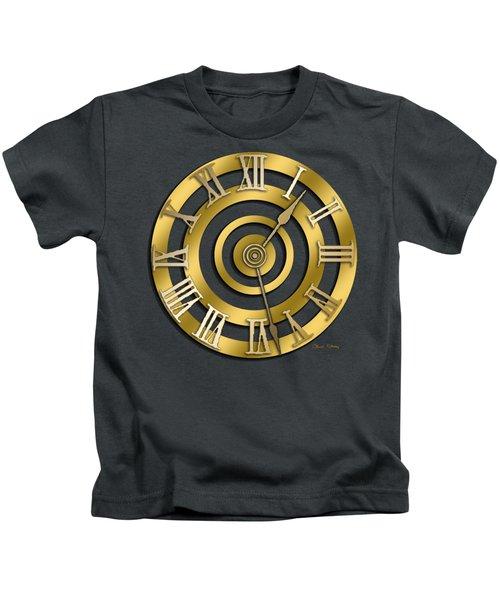 Circular Clock Design Kids T-Shirt