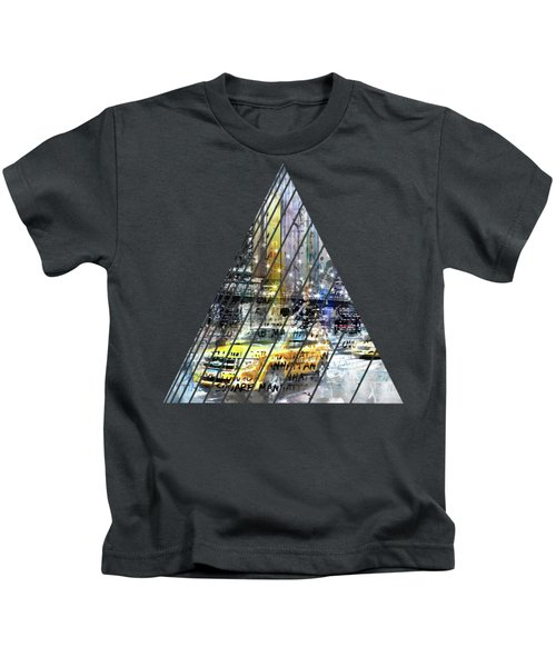 City-art Nyc Collage Kids T-Shirt by Melanie Viola