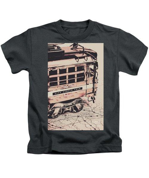 City Circle Street Artwork Kids T-Shirt