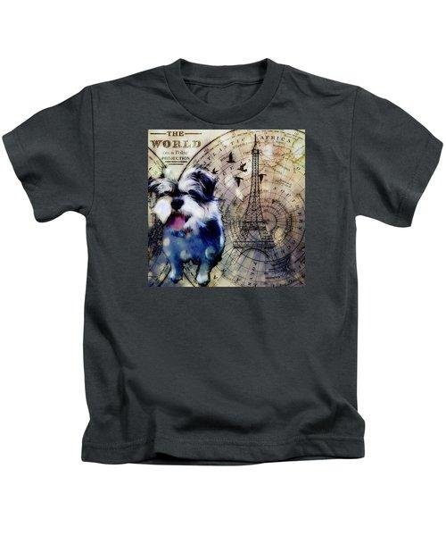 City Girl Goes To Paris Kids T-Shirt