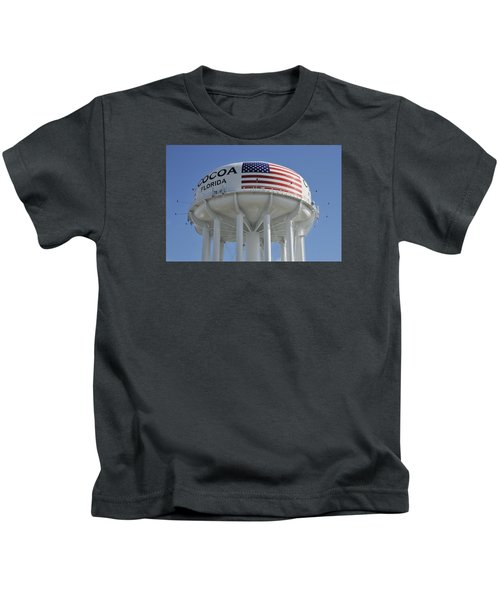 City Of Cocoa Water Tower Kids T-Shirt