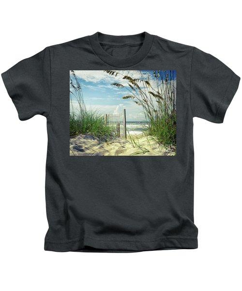 To The Beach Sea Oats Kids T-Shirt