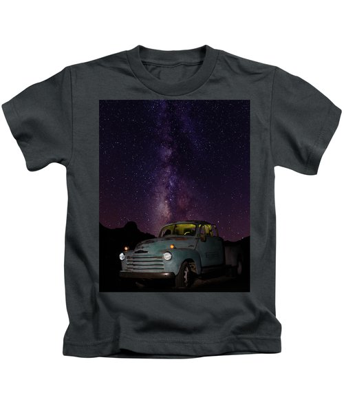 Classic Truck Under The Milky Way Kids T-Shirt