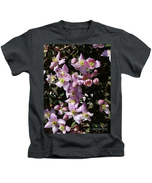Clematis Montana  In Full Bloom Kids T-Shirt