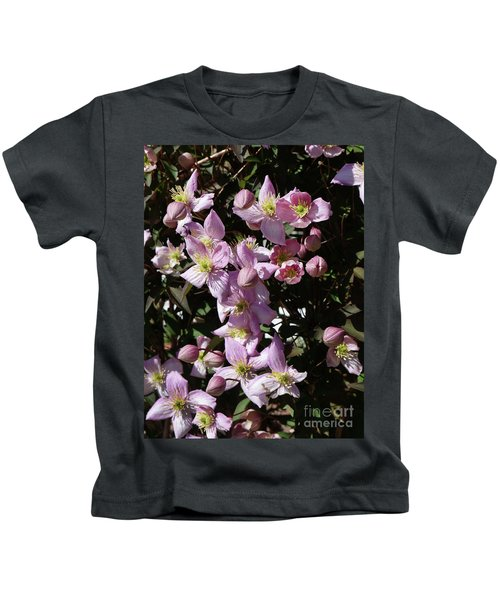 Clematis Montana  In Full Bloom Kids T-Shirt