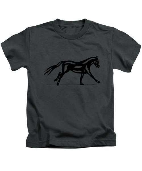 Clementine - Abstract Horse Kids T-Shirt