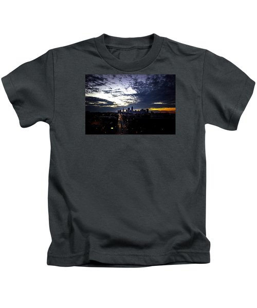 Cleveland At Dusk Kids T-Shirt