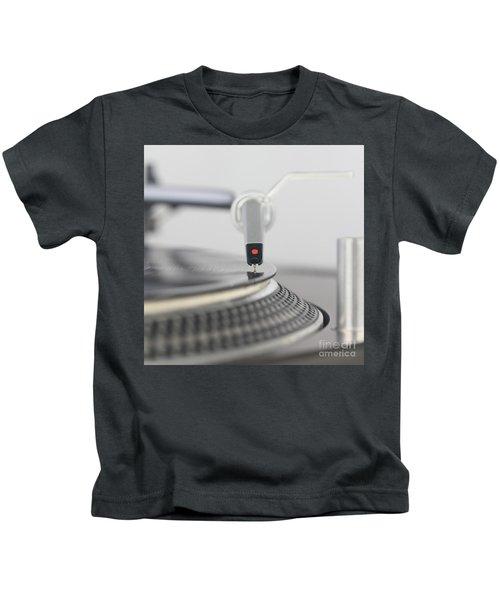 Closeup Of The Legendary Technics Sl 1200 Mk2 Turntable Kids T-Shirt