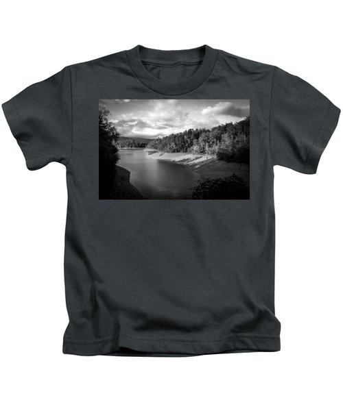 Clouds Above The Nantahala River In Nc Kids T-Shirt