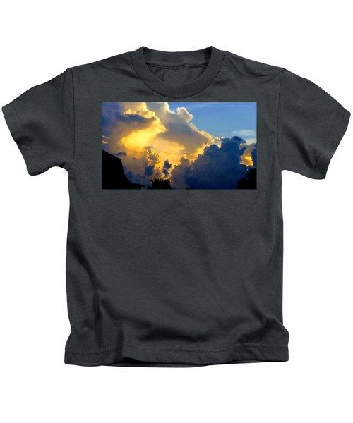 Clouds Of Gold Kids T-Shirt