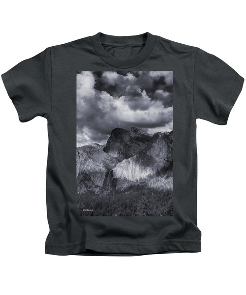 Clouds Over Bridal Veil Falls Kids T-Shirt