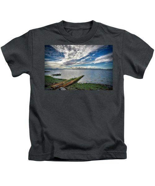 Clouds Over The Bay Kids T-Shirt