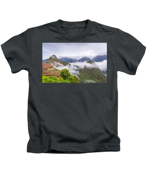 Cloudy Mountains. Kids T-Shirt