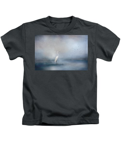 Coastal Egret Kids T-Shirt