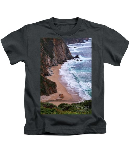 Coastal View At Big Sur Kids T-Shirt
