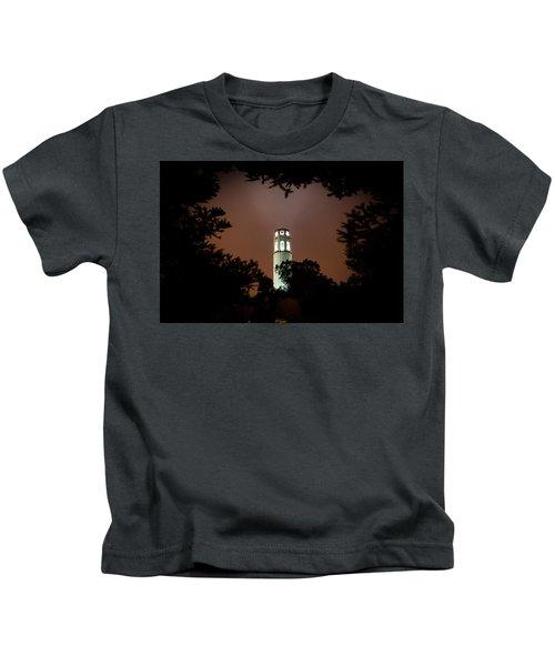Coit Tower Through The Trees Kids T-Shirt