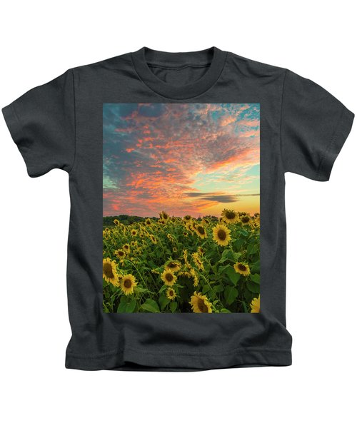 Colby Farm Sunflowers Kids T-Shirt