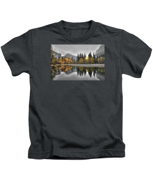 Cold Yosemite Reflections Kids T-Shirt